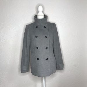 H&M Stand Up Collar Double-Breasted Coat Jacket